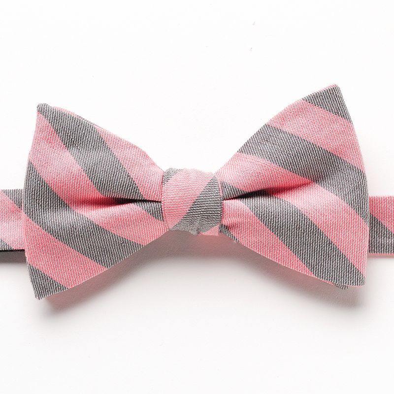 Bow Tie Tuesday Striped Pre-Tied Bow Tie - Men