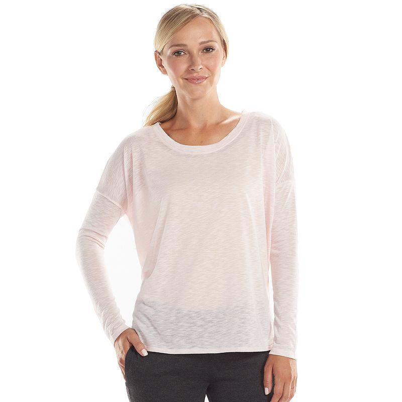 Women's bliss Spa Set Perfect Boatneck Lounge Tee