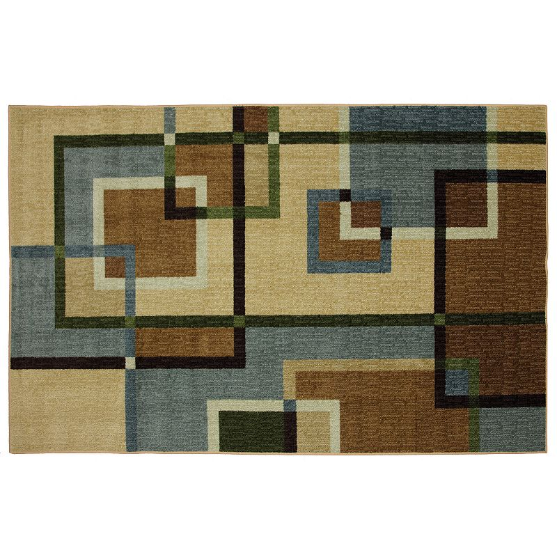 Mohawk® Home Overlapping Squares Geometric Rug