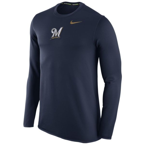 Men's Nike Milwaukee Brewers Waffle Thermal Tee