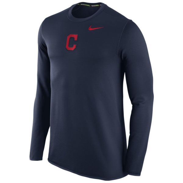 Men's Nike Cleveland Indians Waffle Thermal Tee