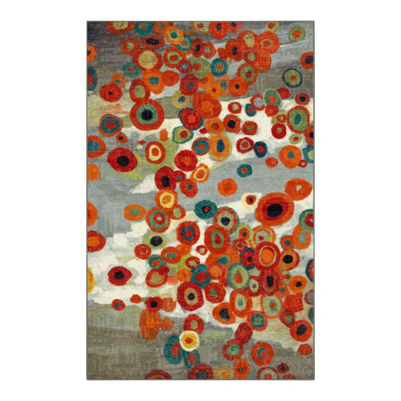 Mohawk Home Tossed Floral Abstract Indoor Outdoor Rug