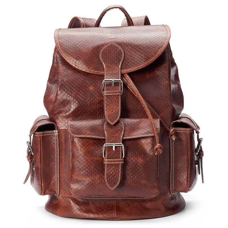 AmeriLeather Vacation Jumbo Leather Convertible Backpack