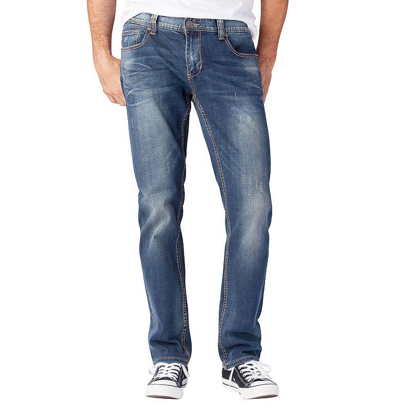 Men's Seven7 Stretch Skinny Jeans, Size: 32X34, Brt Blue