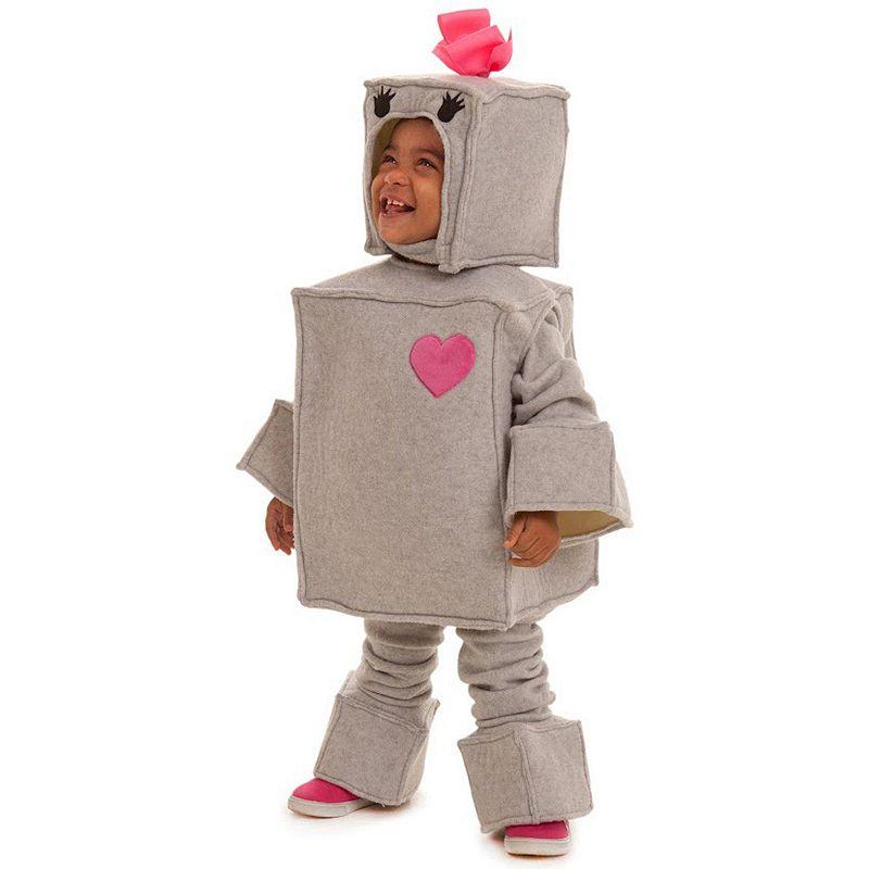 Baby Beige & Pink Robot Costume