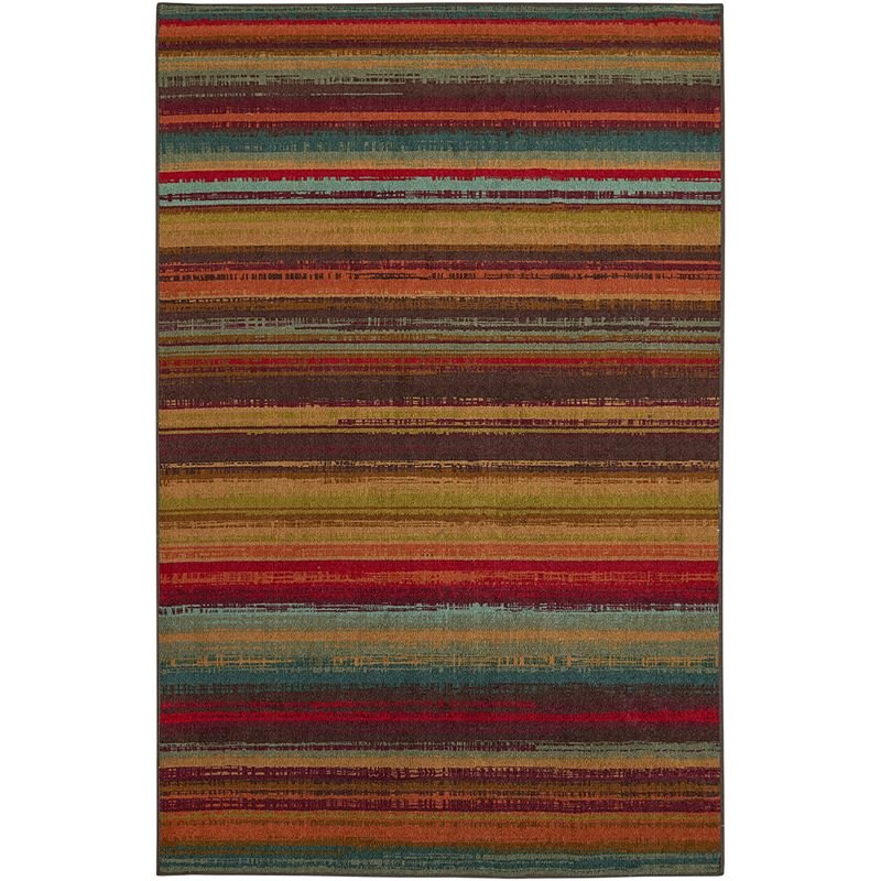 MOHAWK HOME AVENUE STRIPE INDOOR OUTDOOR RUG