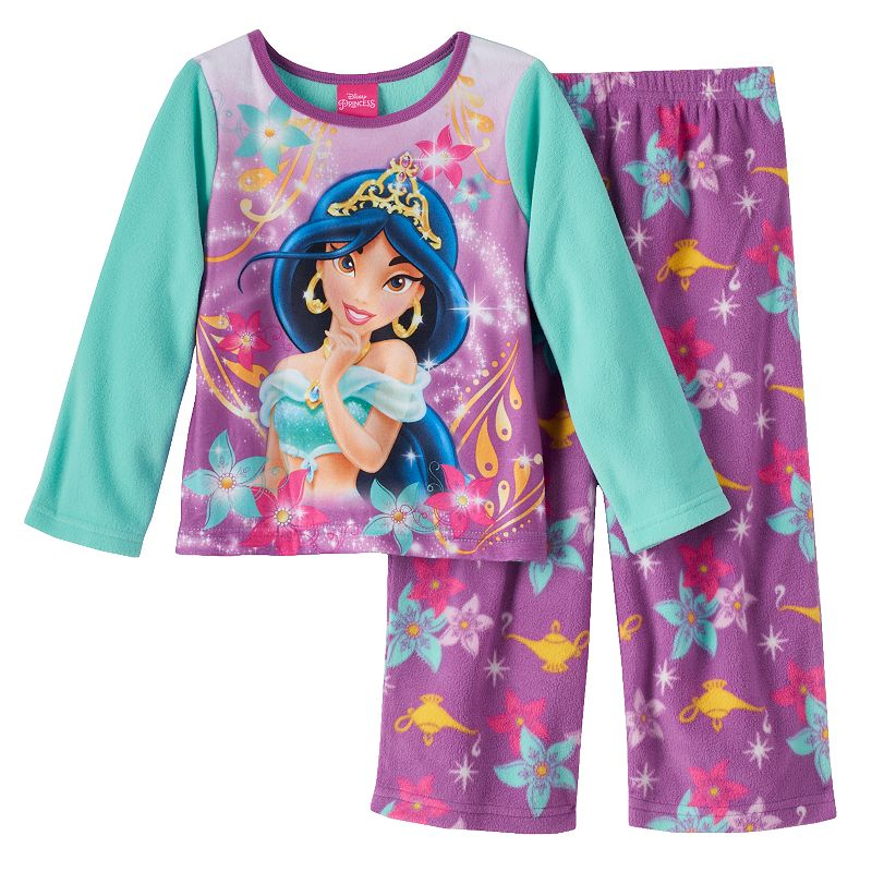 Disney princess jasmine fleece pajama set toddler girl - Robe jasmine disney ...
