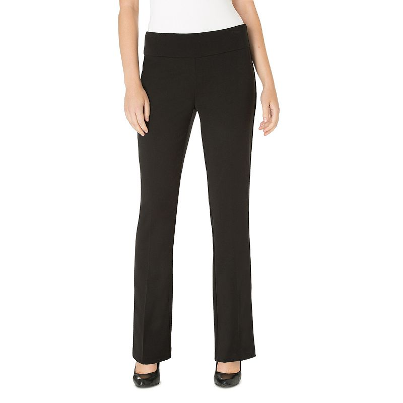 Women's Haggar® High Twist Pull-On Bootcut Dress Pants