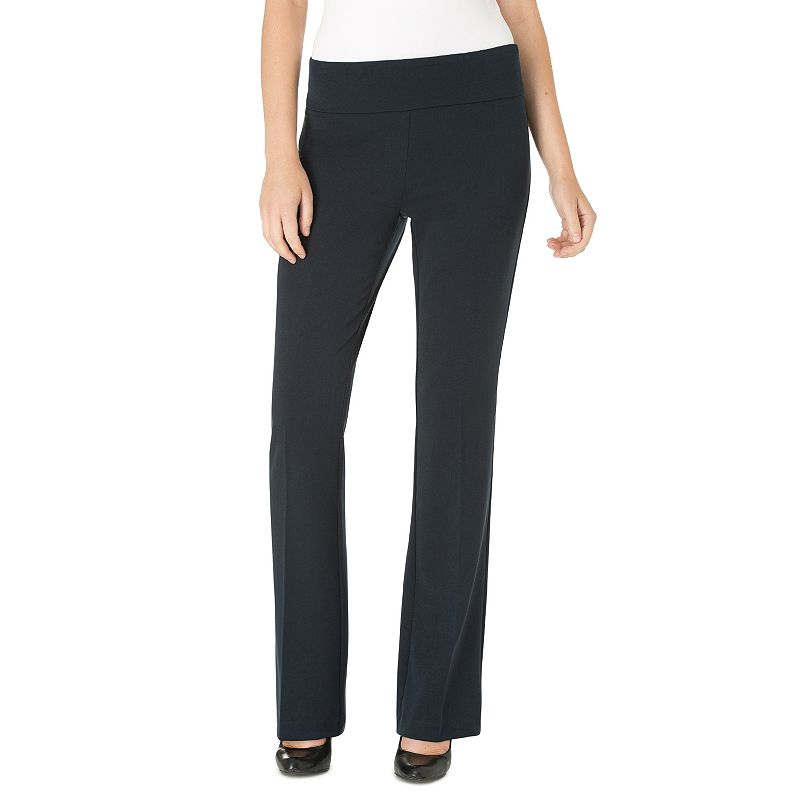 Women's Haggar® High Twist Pull-On Bootcut Dress Pants