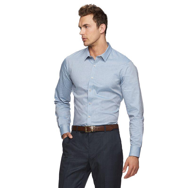Marc Anthony Extra Slim-Fit Diamond Stretch Button-Down Shirt - Men