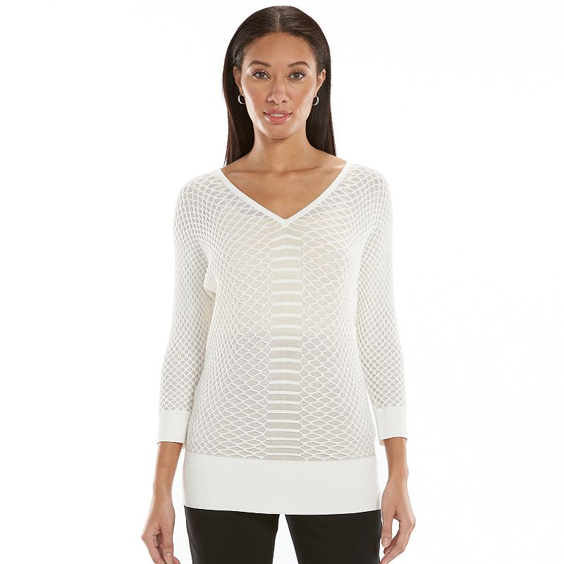Women's Dana Buchman Textured V-Neck Sweater