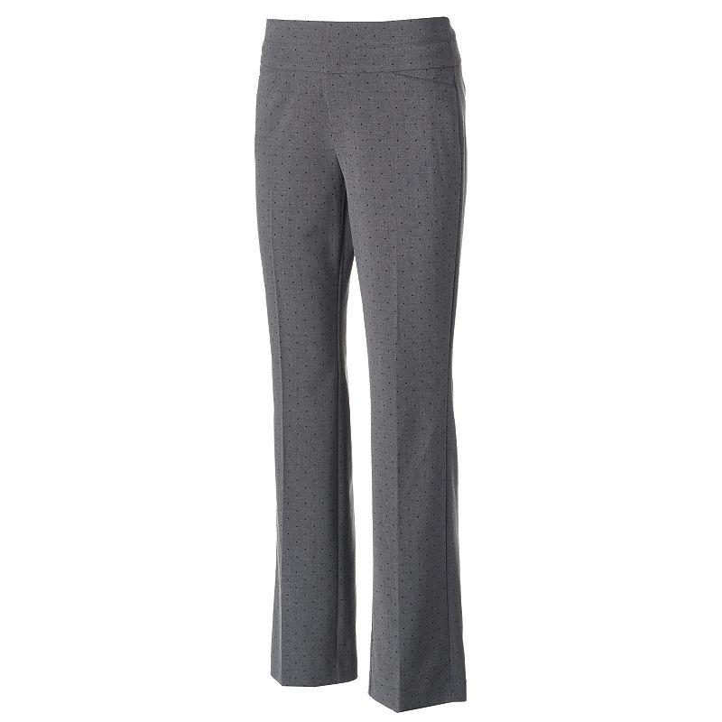 ELLE™ Wide-Waist Bootcut Dress Pants - Women's