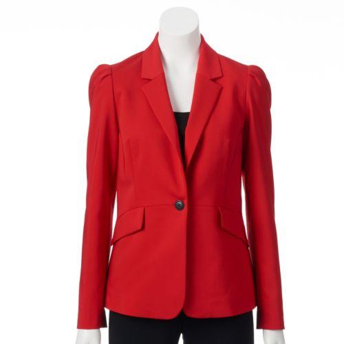 ELLE? Button-Front Blazer - Women's