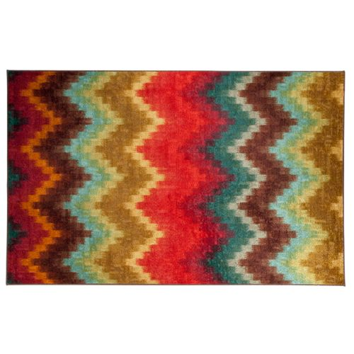 Mohawk Home Painted Zig Zag Chevron Indoor Outdoor Rug