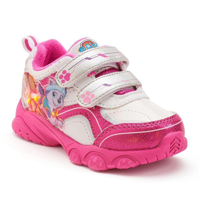 Paw Patrol Girls' Skye and Everest Light-Up Athletic Shoes