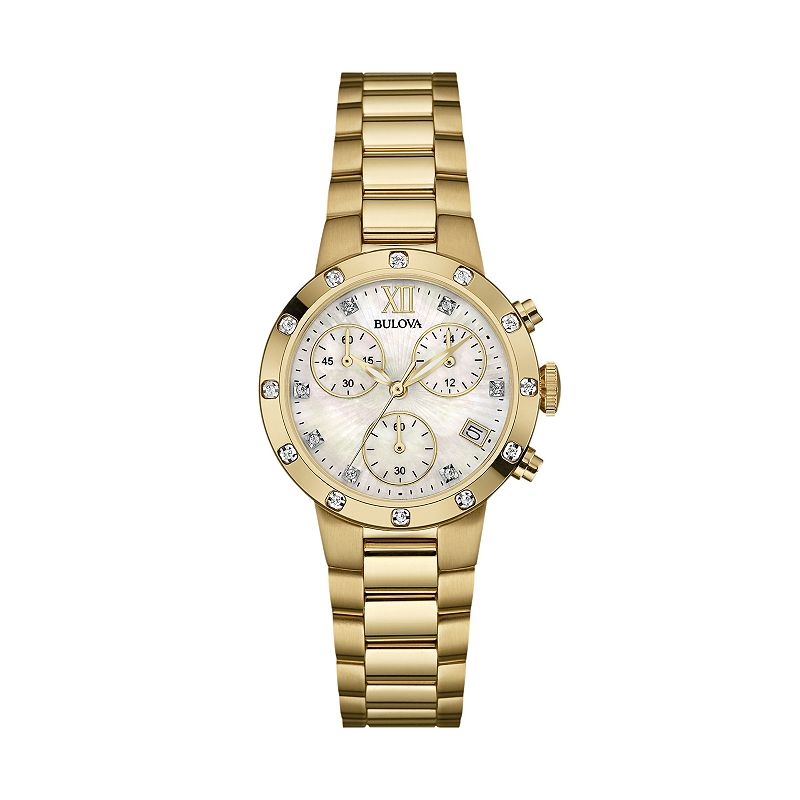 Bulova Women's Diamond Stainless Steel Chronograph Watch