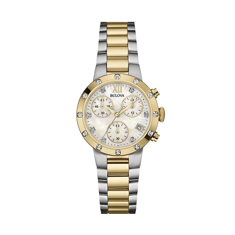 Bulova Women's Diamond Stainless Steel Chronograph Watch