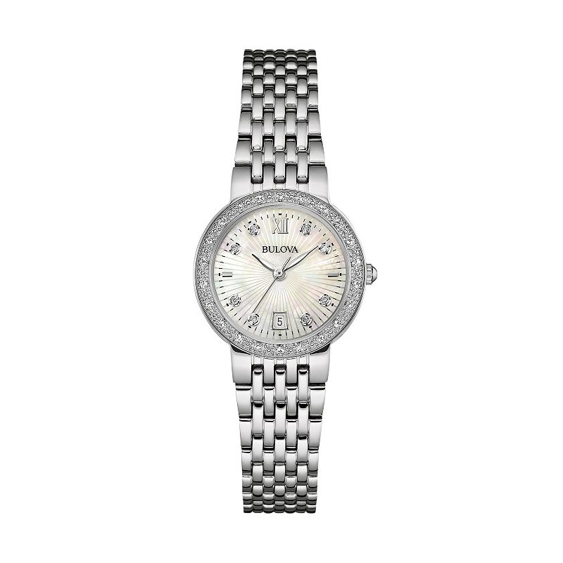 Bulova Women's Diamond Stainless Steel Watch - 96R203