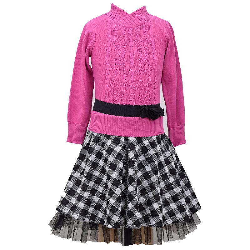 Bonnie Jean Girls 4-6x Cable Knit Sweater Dress