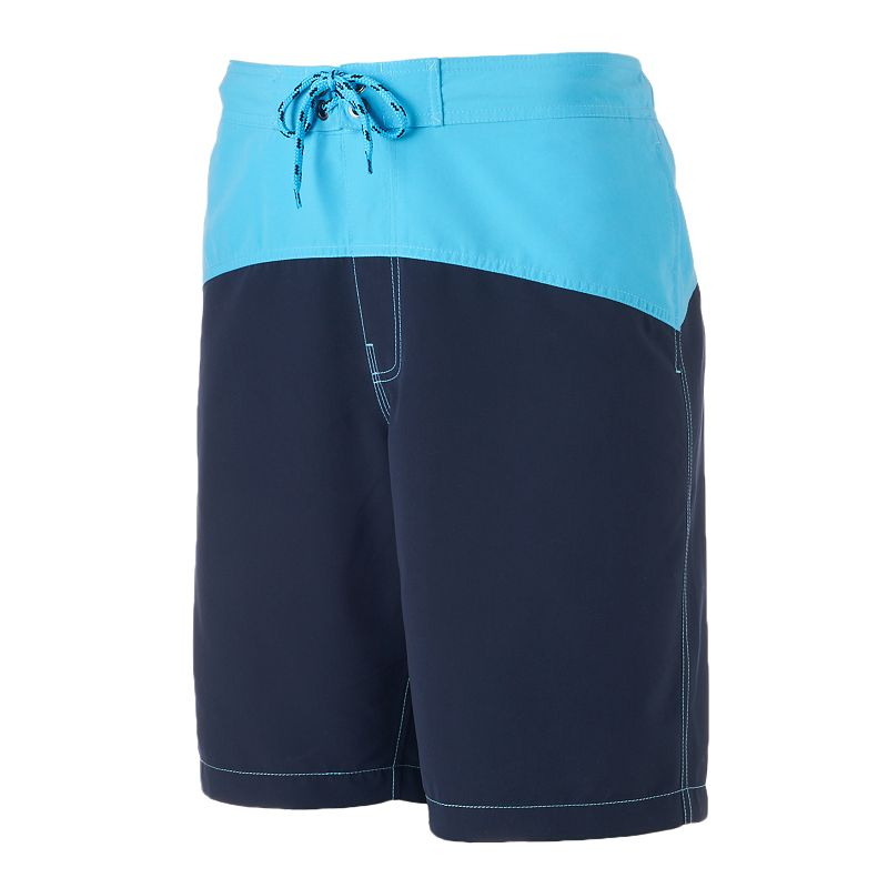 Big & Tall SONOMA life + style Curved Swim Trunks