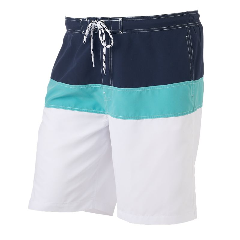 Big & Tall SONOMA Goods for Life™ Colorblock Swim Trunks