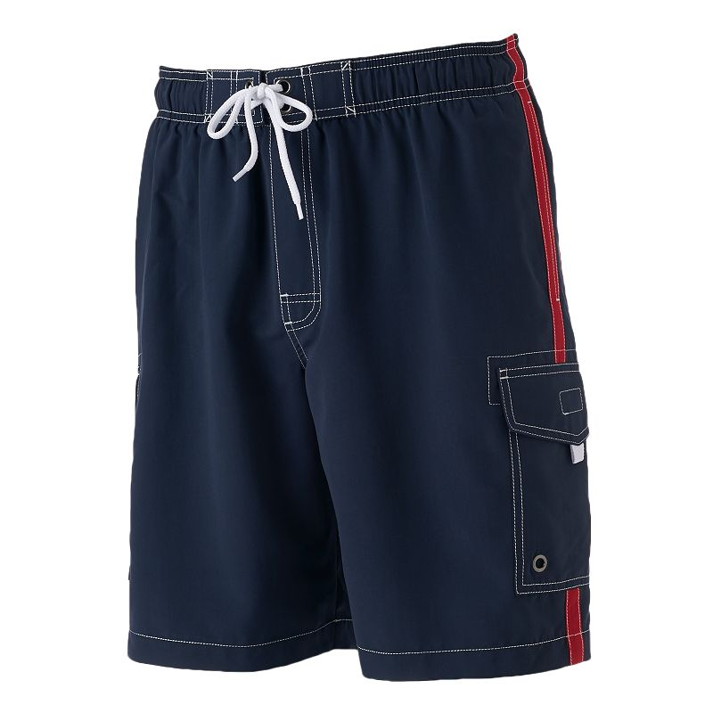 Big & Tall SONOMA Goods for Life™ Side-Striped Cargo Swim Trunks