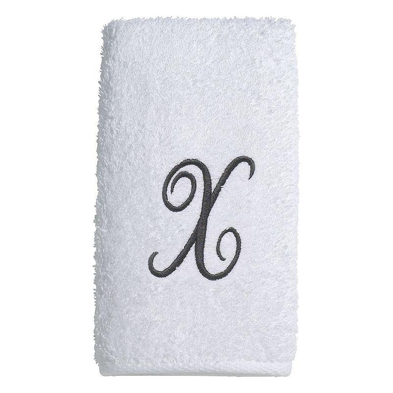 Avanti Embroidered Script Monogram Bath Towel