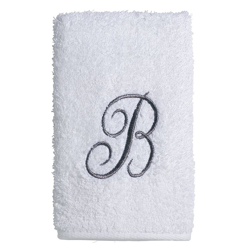 Avanti Embroidered Script Monogram Fingertip Towel