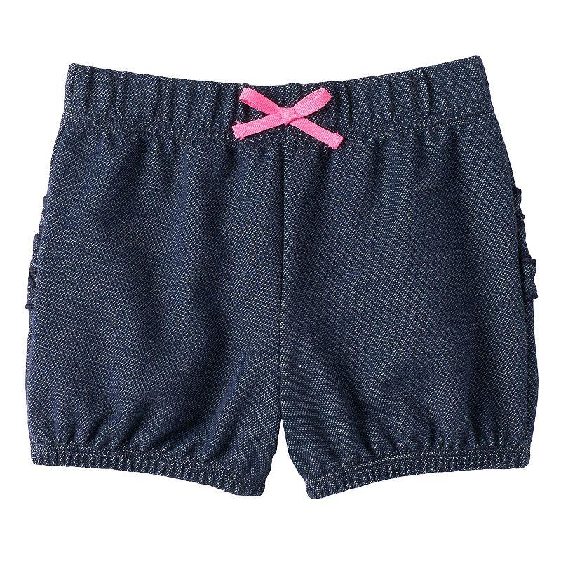 Baby Girl Jumping Beans® Ruffle Faux-Denim Bubble Shorts