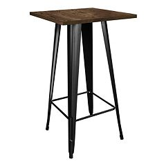 AmeriHome Loft Wood Top Pub Table by