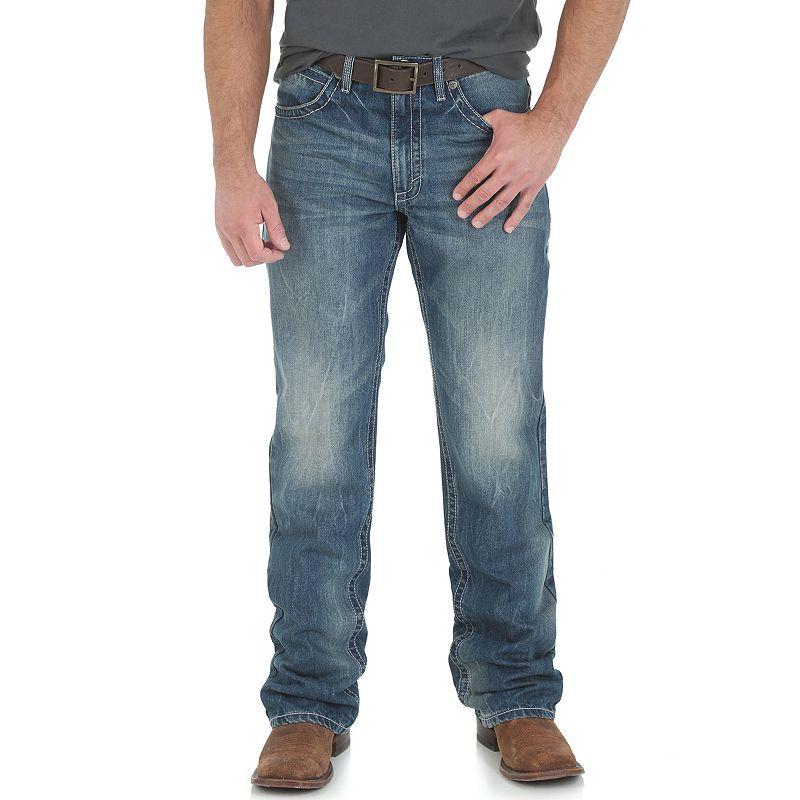 Men's Wrangler Vintage Boot-Cut Jeans, Size: 34X34, Blue