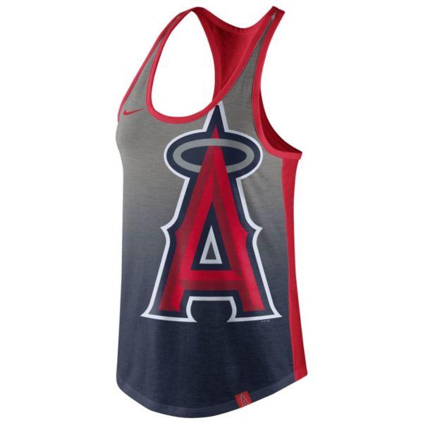 Women's Nike Los Angeles Angels of Anaheim Fade Racerback Tri-Blend Tank Top