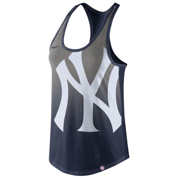 Women's Nike New York Yankees Fade Racerback Tri-Blend Tank Top