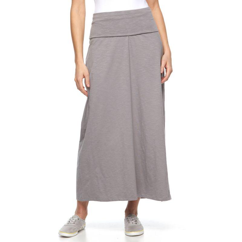 womens grey maxi skirt kohl s