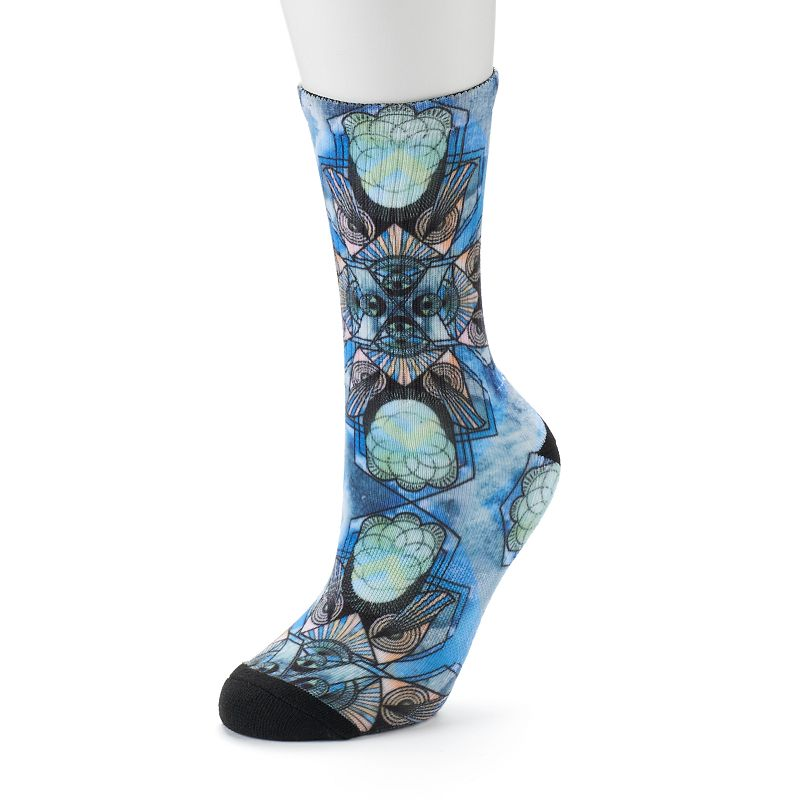 Unionbay Stained Glass Printed Crew Socks - Women