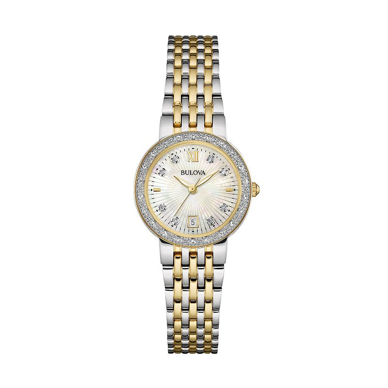 Bulova Women's Two Tone Stainless Steel Watch - 98R211
