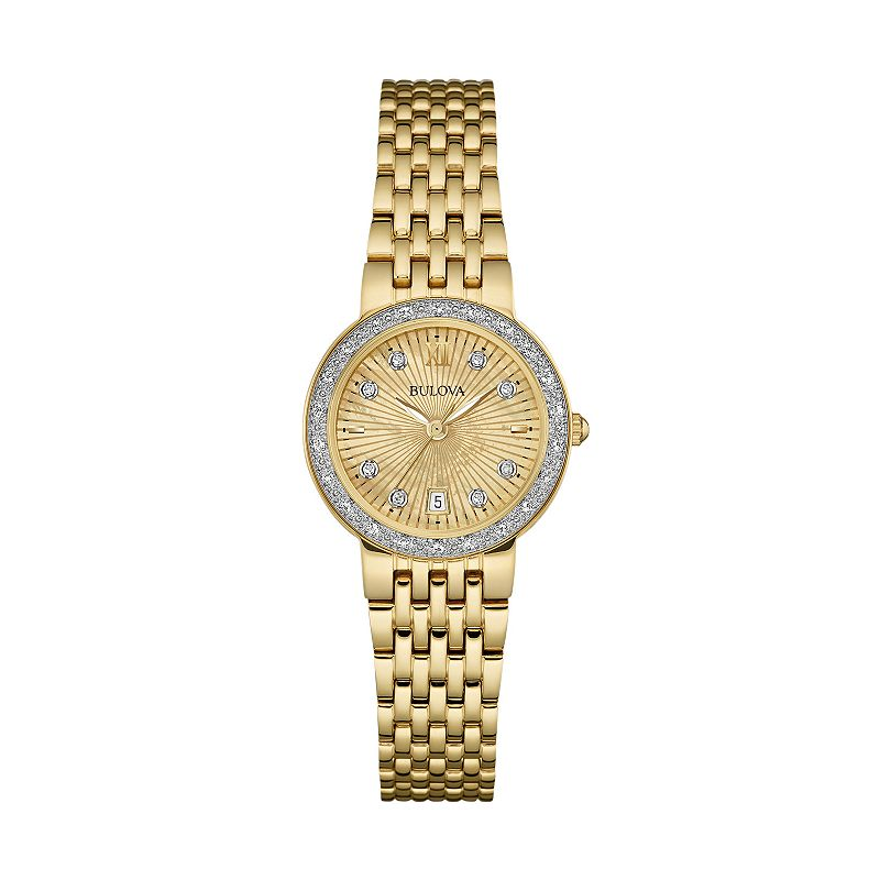 Bulova Women's Diamond Stainless Steel Watch - 98R212