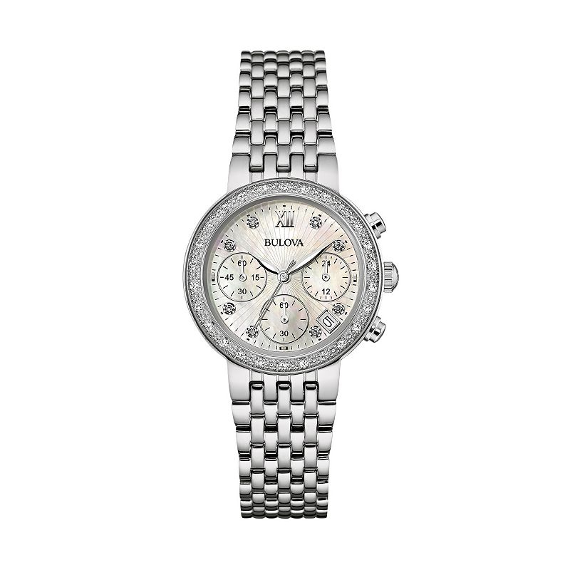 Bulova Women's Stainless Steel Chronograph Watch - 96R204