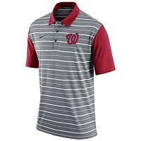 Men's Nike Washington Nationals Striped Dri-FIT Performance Polo