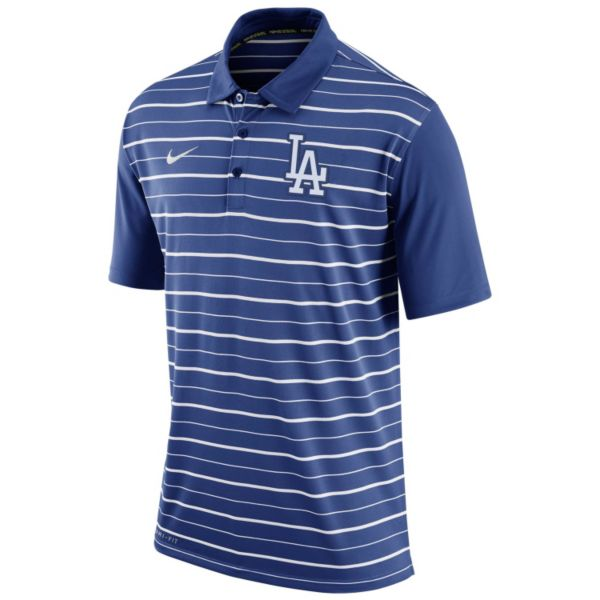 Men's Nike Los Angeles Dodgers Striped Dri-FIT Performance Polo