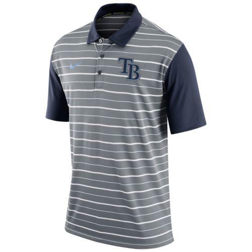 Men's Nike Tampa Bay Rays Striped Dri-FIT Performance Polo