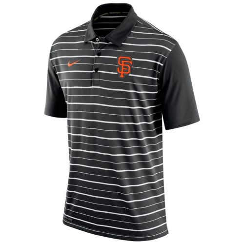 Men's Nike San Francisco Giants Striped Dri-FIT Performance Polo
