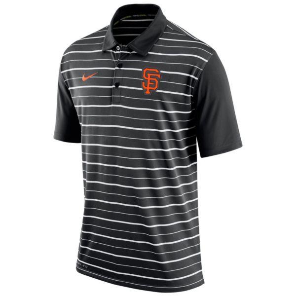 Men's Nike San Francisco Giants Striped Dri-FIT Performance Polo