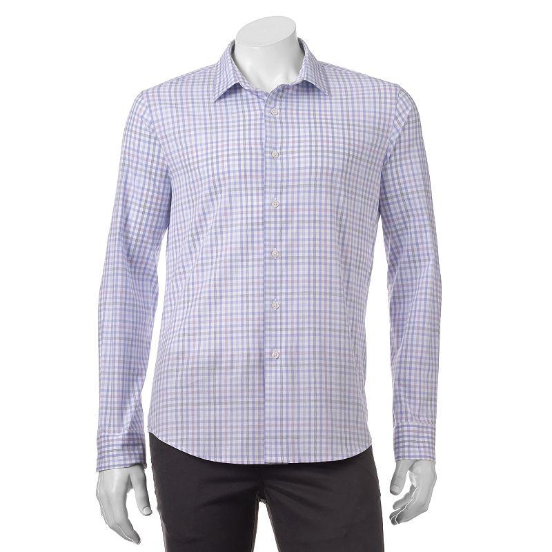Men's Apt. 9® Slim-Fit Stretch Plaid Button-Down Shirt