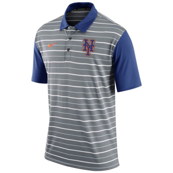 Men's Nike New York Mets Striped Dri-FIT Performance Polo