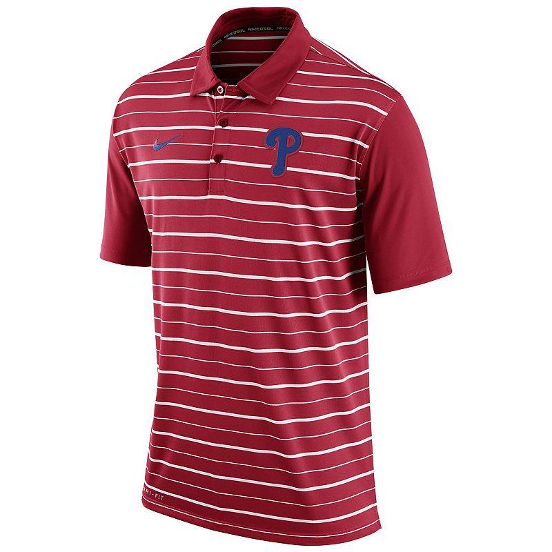 Men's Nike Philadelphia Phillies Striped Dri-FIT Performance Polo