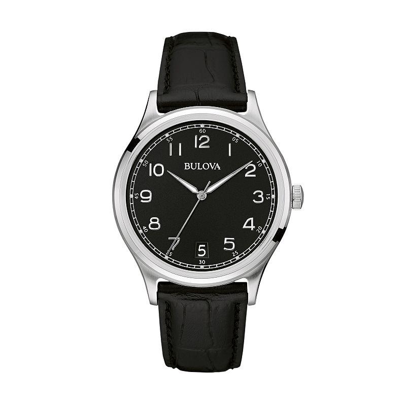 Bulova Men's Leather Watch - 96B233