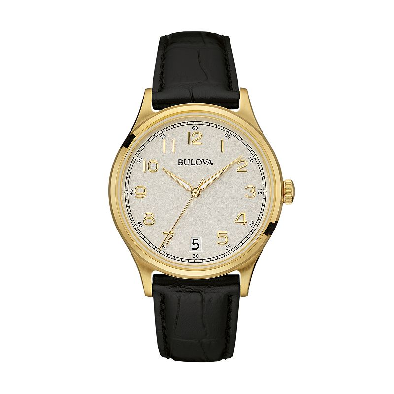 Bulova Men's Leather Watch - 97B147