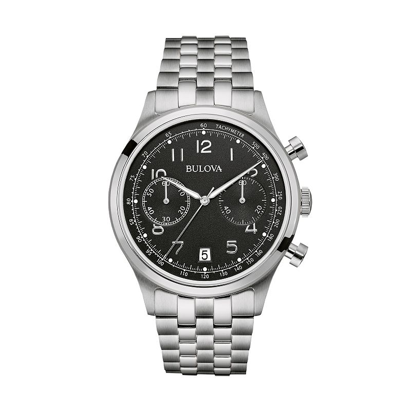 Bulova Men's Stainless Steel Chronograph Watch - 96B234