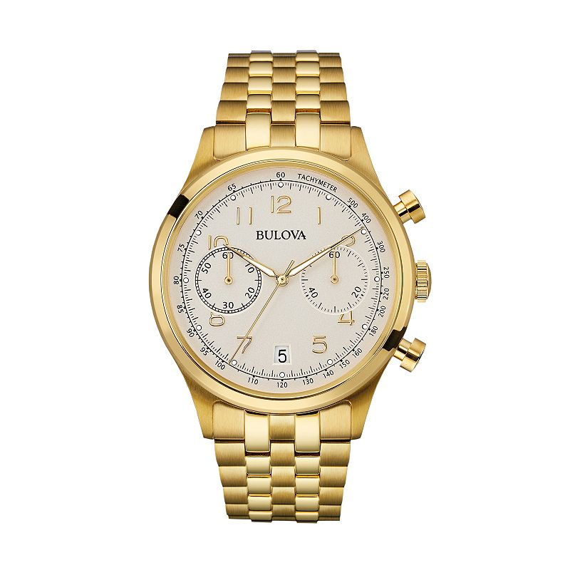 Bulova Men's Gold Tone Stainless Steel Chronograph Watch - 97B149